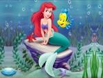 La sirenita Ariel con sus amigos