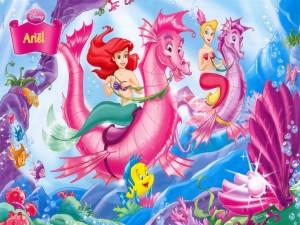 Postal: La princesa Ariel