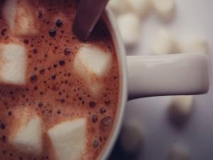 Postal: Cacao con malvaviscos