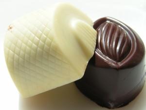 Bombón blanco y bombón negro