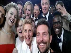 Postal: Selfie de actores en los Oscar 2014