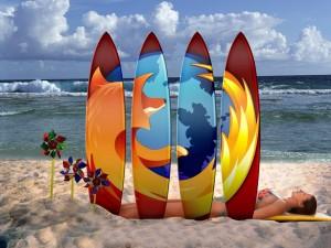 Postal: Firefox en las tablas de surf