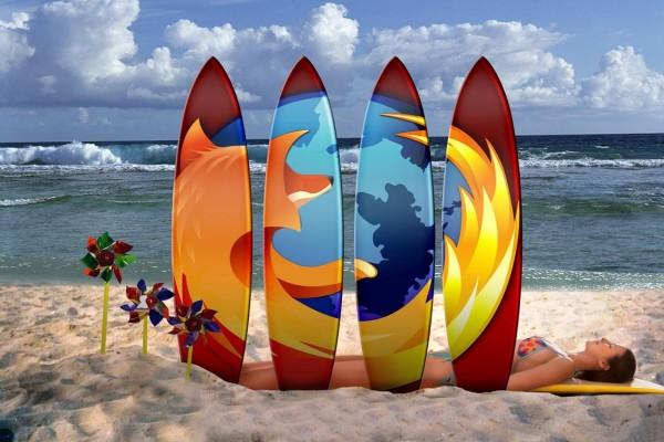 Firefox en las tablas de surf