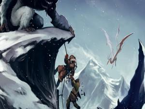 Postal: Dragón de las nieves