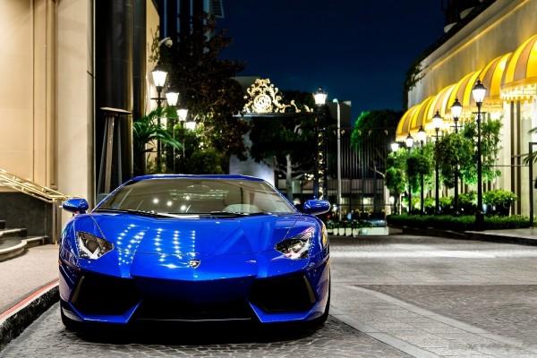 Lamborghini azul