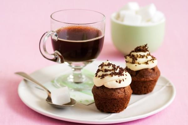 Cupcakes con nata y café
