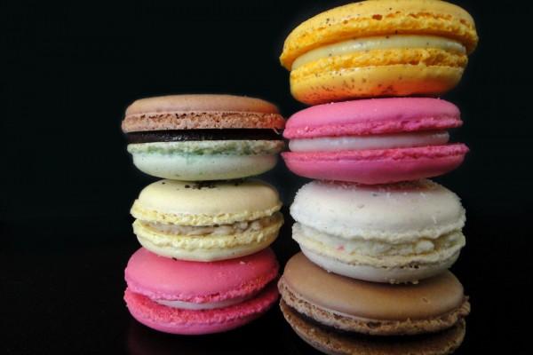 Macarons de colores y diferentes sabores