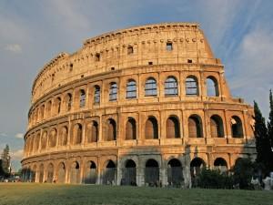 Postal: El Coliseo al atardecer