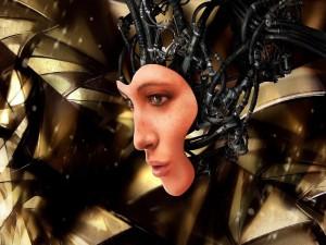 Robot con cara de mujer