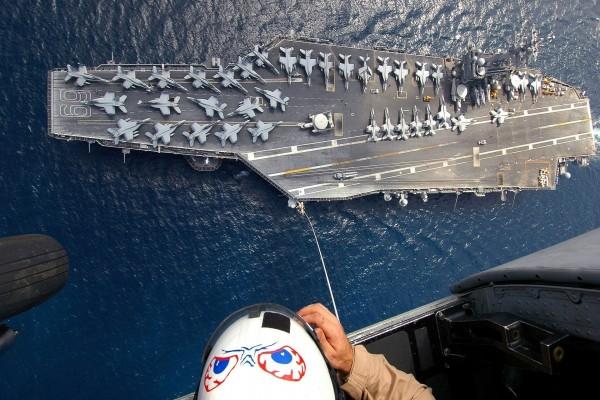Portaaviones visto desde el aire