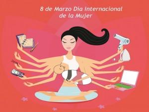 Postal: 8 de Marzo Día Internacional de la Mujer