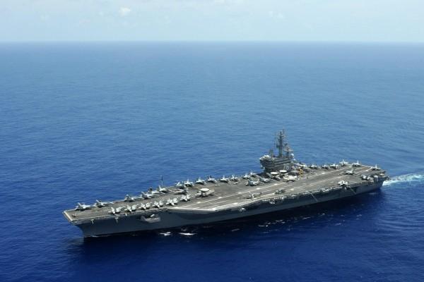 Vista del portaaviones: USS Ronald Reagan (CVN-76)