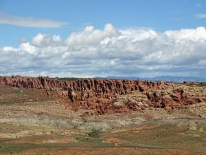 Vista de las formaciones rocosas