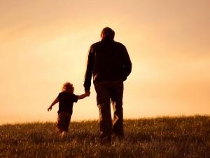 Postal: Paseando en el Día del Padre