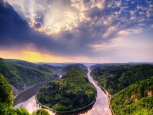 Bonita vista del río