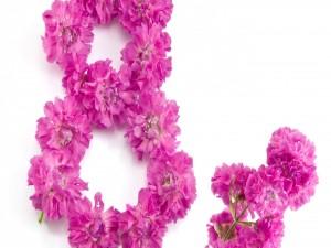 Postal: Flores para el Día de la Mujer