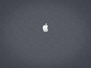 Postal: Apple en fondo gris