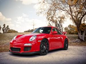 Porsche GT3 ADV1, de color rojo