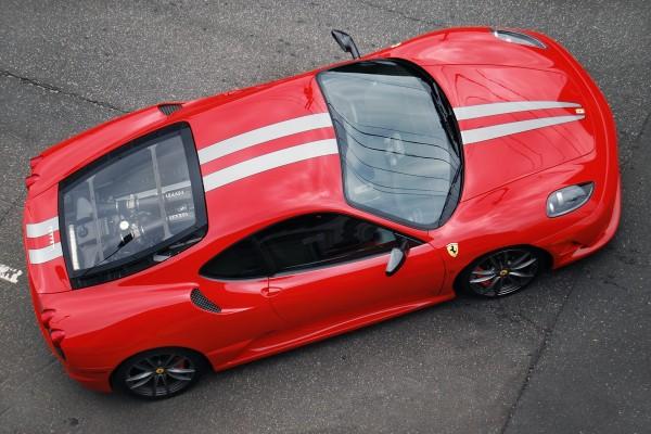 El techo de un Ferrari