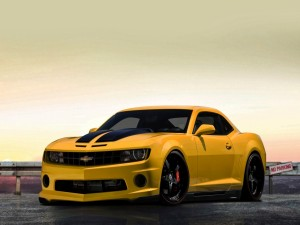 Postal: Chevrolet Camaro, amarillo