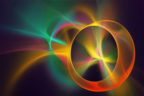 Luz y color con diversas formas