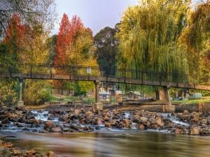 Postal: Puente cruzando un río