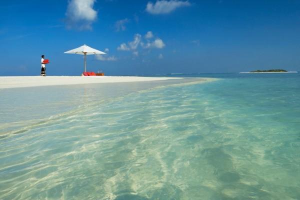 Un nativo en las islas Maldivas