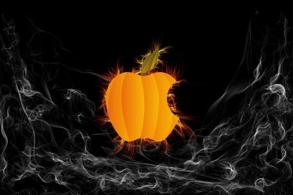 Apple calabaza de halloween
