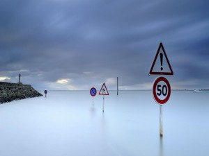 Señales de tráfico en el mar