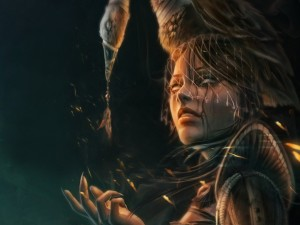 Postal: Una joven bruja
