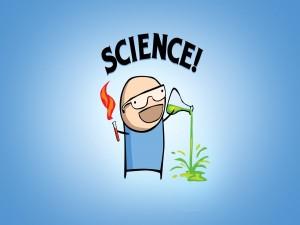 Postal: Científico loco