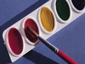 Colores y pincel