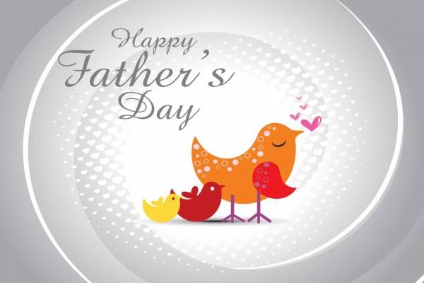 Familia de pajaritos: Feliz Día del Padre