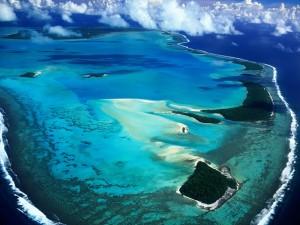 Islas Cook, vistas desde el aire