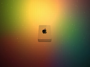 Apple con colores y brillos