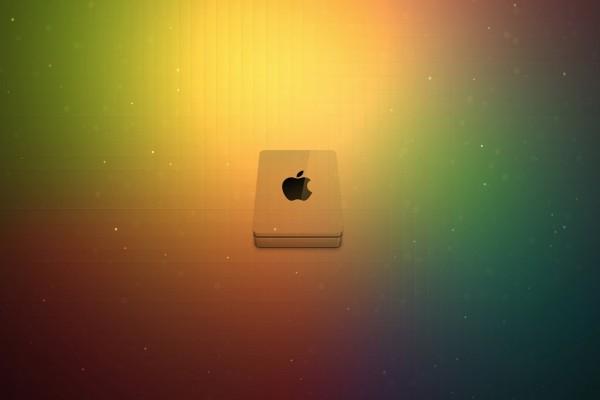 Apple con colores y brillos