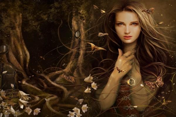 Bruja con el anillo mágico
