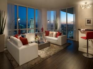 Bonita sala de estar en Miami