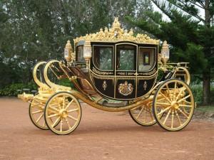 Postal: Elegante carroza