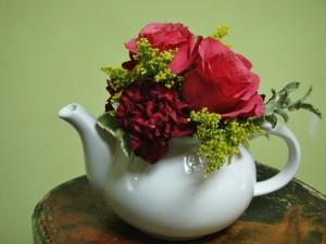 Flores en la tetera