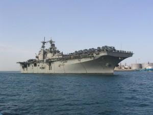 Un gran portaaviones