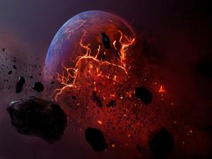 Postal: Explosión en el espacio