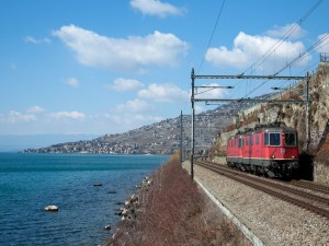 Ferrocarril en la costa