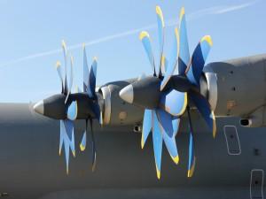 Hélices de un avión