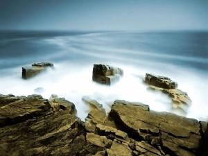 Bruma en las rocas