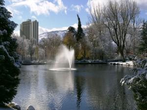 Fuente en el parque