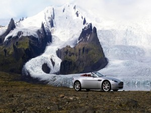 Aston Martin en frío lugar
