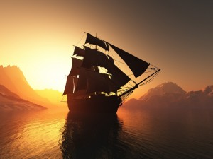 El sol acaricia la nave