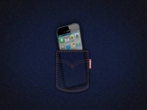 Un Apple en el bolsillo del vaquero