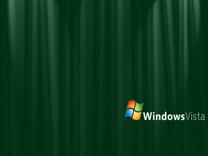 Windows Vista en fondo verde